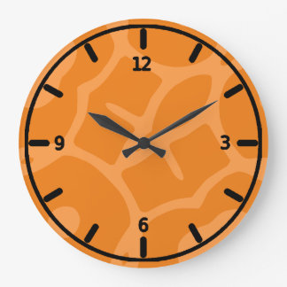 Funky orange clock