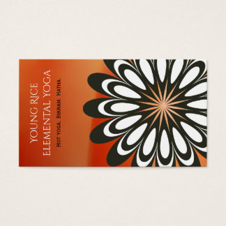 Funky Orange Hippy Flower Black White