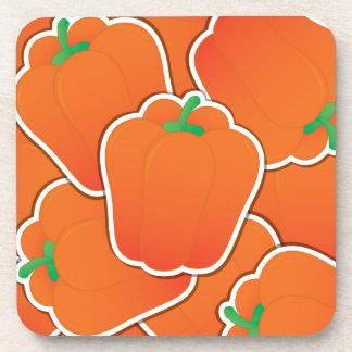 Funky orange pepper coaster