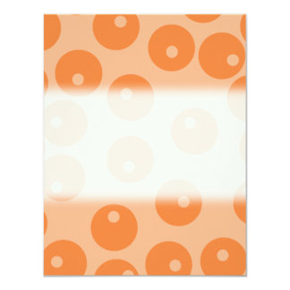 "Funky orange retro pattern. 4.25"" x 5.5"" invitation card"