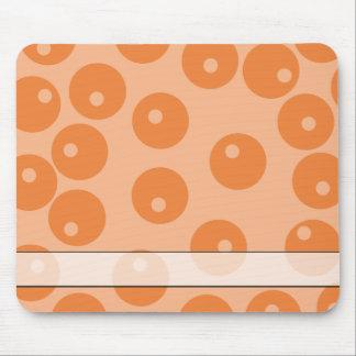 Funky orange retro pattern mouse pads