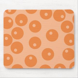 Funky orange retro pattern. mouse pad