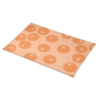 Funky orange retro pattern. placemat