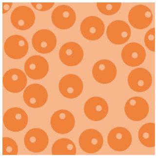 Funky orange retro pattern. standing photo sculpture