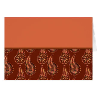 Funky Paisley 2 Greeting Cards