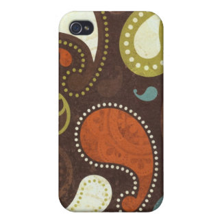 Funky Paisley Texture iPhone 4 Cover