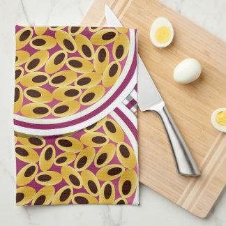 Funky passion fruit tea towel