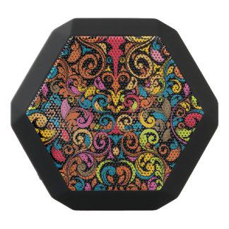 Funky pattern black bluetooth speaker