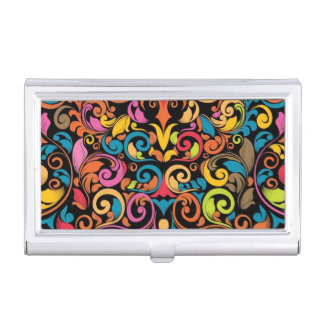 Funky pattern business card holder