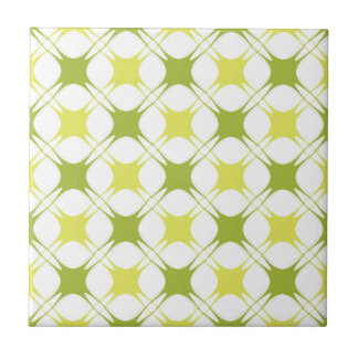 Funky Pattern Small Square Tile