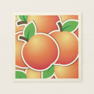 Funky peach disposable serviettes