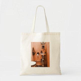 Funky Peachy Bathroom Budget Tote Bag