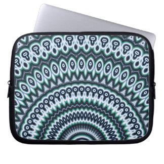 Funky Peacock Mandala pattern laptop sleeve