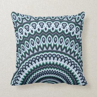 Funky Peacock Mandala pattern pillow cushion