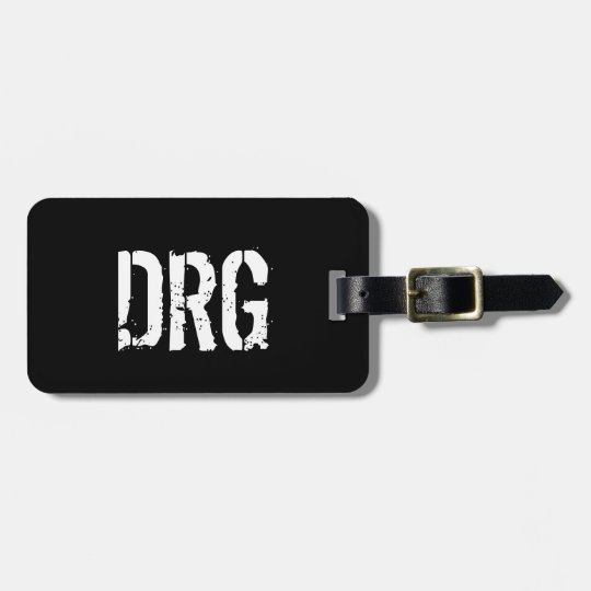 Funky Personalised Luggage Tag in Black and White