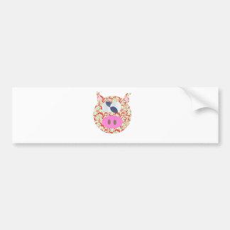 Funky Pig Bumper Sticker
