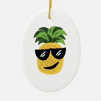 Funky Pineapple Christmas Ornament