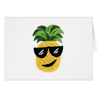 Funky Pineapple Greeting Card
