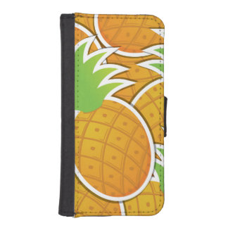 Funky pineapple iPhone SE/5/5s wallet case