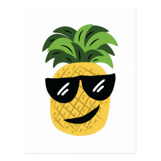 Funky Pineapple Postcard