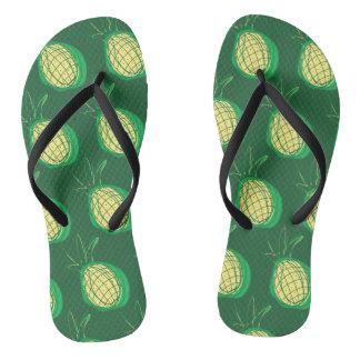 Funky pineapples flip flops