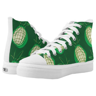 Funky pineapples high-tops printed shoes