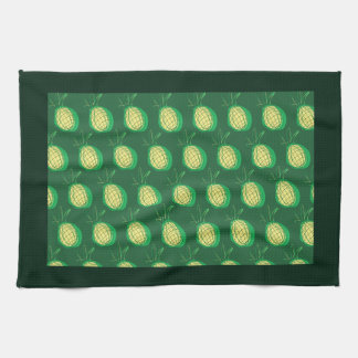 Funky pineapples tea towel