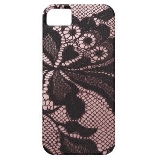 Funky Pink & Black Lace  IPhone 5 Case