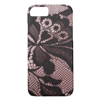 Funky Pink & Black Lace iPhone 7 case