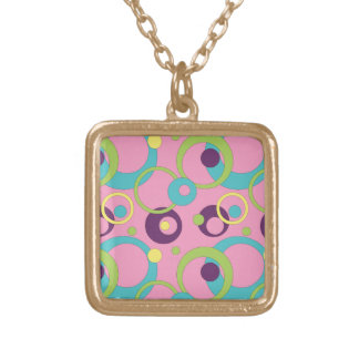 Funky Pink Circles Necklace Custom Necklace