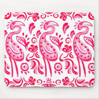 Funky Pink Flamigo Paisley Pattern Mouse Mat