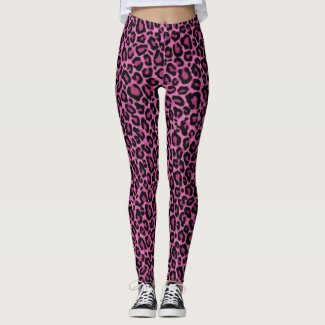 Funky Pink Leopard Print Leggings