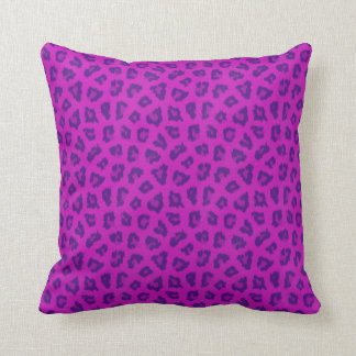 Funky Pink & Purple Leopard Print Pattern Pillow