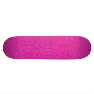 Funky Pink & Purple Retro Circles 18.4 Cm Mini Skateboard Deck