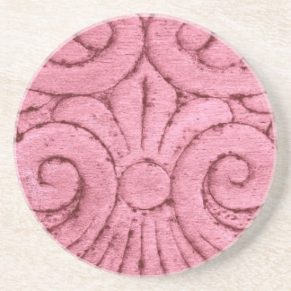 Funky Pink Swirls and Curls Drink Coasters