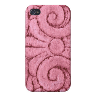 Funky Pink Swirls and Curls Covers For iPhone 4