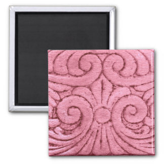Funky Pink Swirls and Curls Magnets