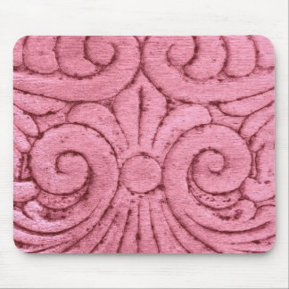 Funky Pink Swirls and Curls Mousepads