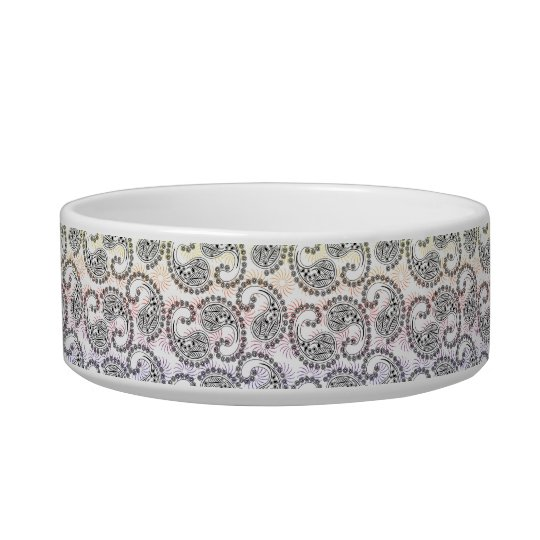 Funky Pinwheel Paisley Design Bowl