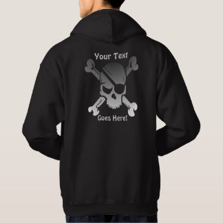 Funky Pirate Skull with Custom Text Hoodie