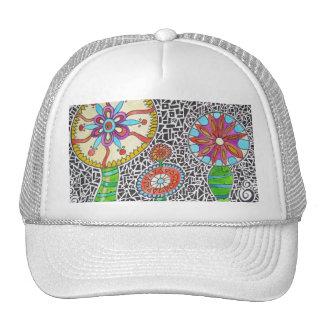 Funky Plants Watercolor Mosaic Trucker Hat
