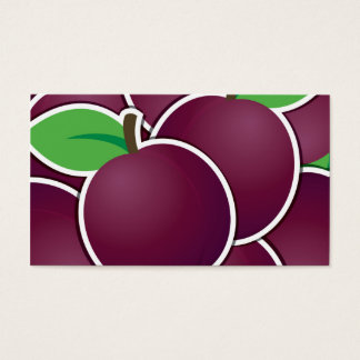Funky plum business card