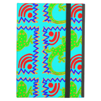 Funky Polka Dot Lizard Pattern Animal Designs iPad Case