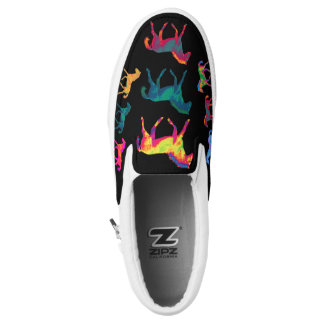 Funky Ponies Colt Pattern WildHerdz Loafers Slip-On Shoes