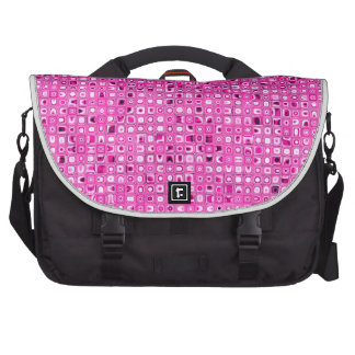 Funky 'Pretty In Pink' Mosaic Tiles Pattern Laptop Computer Bag