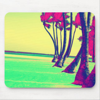 funky psychedelic beach design mouse mat