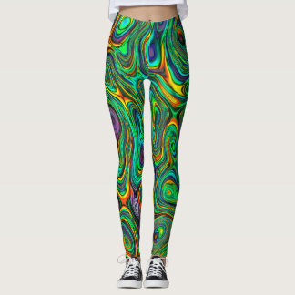 Funky Psychedelic Colorful Abstract Leggings