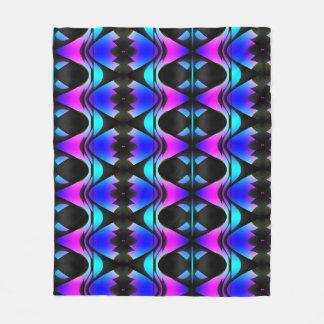 Funky Psychedelic Pattern Fleece Blanket