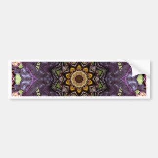 Funky, psychedelic, retro design. bumper sticker