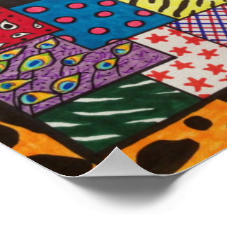 Funky Punk Patchwork Quilt Poster